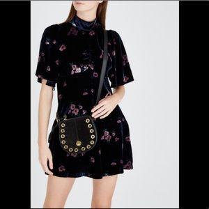 FREE PEOPLE Be My Baby Velvet Mini Dress